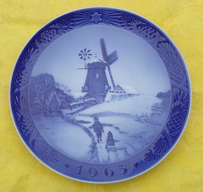 "1963 Royal Copenhagen Christmas Plate - ""Højsager Mill"""