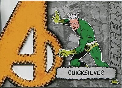 Marvel Beginnings Series 2 Die Cut Chase Card A-30 Quicksilver