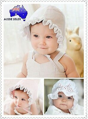 Newborn Baby Infant Girl Children Kids Winter Lace Cotton Hat Bonnet Cap Beanie