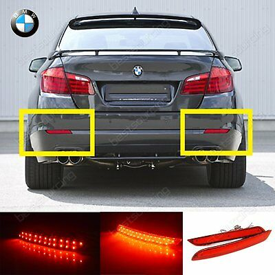 BMW 5 Series 520d 520i 525d 528i 530d 530i Red LED Rear Bumper Reflector Light