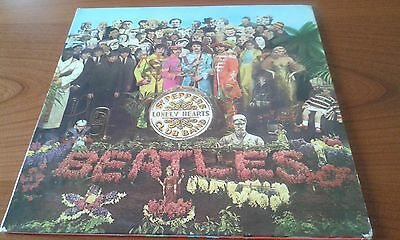 "THE BEATLES ""SGT. PEPPER'S LONELY HEARTS CLUB BAND"". Lp UK Panno/Handkerchief EX"