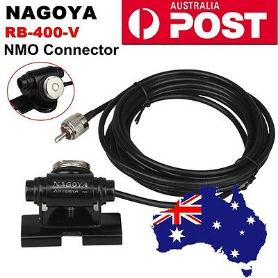 Nagoya RB400V NMO Connector Antenna Clip Mount RG58 A/U 4M Cable For Car Radio
