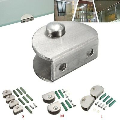 S/M/L Stainless Steel Shelf Support Holder Glass Fixed Clamp Bracket 5-12mm