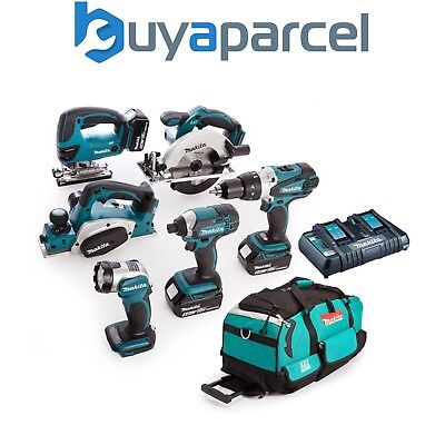 Makita DLX6067PT 18v LXT 6pc Combi Kit - 3 x 5.0ah Batteries Inc Jigsaw + Planer