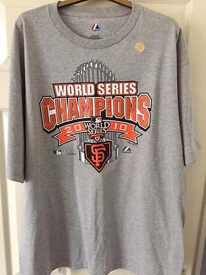 San Francisco Giants T-Shirt 2010 World Series Authentic Issue Size XL