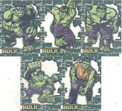 The Incredible Hulk [2003] Complete Crystal Clear Chase Card Set 1-5
