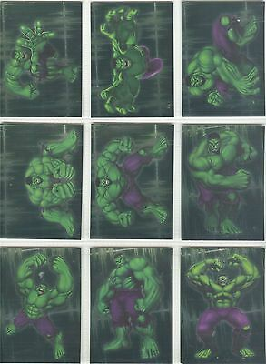 The Incredible Hulk [2003] Complete Gamma Ray Chase Card Set 1-10