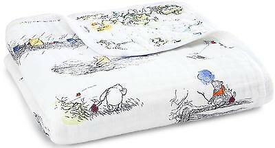 Aden + Anais DISNEY BABY DREAM BLANKET WINNIE THE POOH 100% Cotton Muslin BN