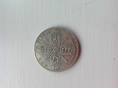 1925 Scarce King George V Silver Florin/ Two Shillings (Pre 1947 Silver Coin)