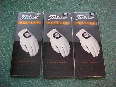 3 New Titleist Mens Players Premium Golf Gloves Small, Right Handed Man