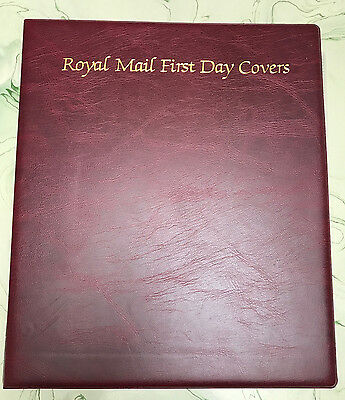 Royal Mail First Day Cover Album + 18 Pages 72 First Day Covers Diff Years Lot#1