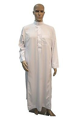 Saudi Style White Thobe, Jubba, Arab Robe, dishdash Islamic dress only for men