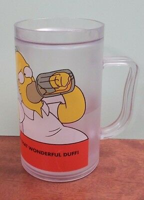 Simpsons Can't Get Enough Of That Wonderful Duff Frosted Plastic Beer Tankard
