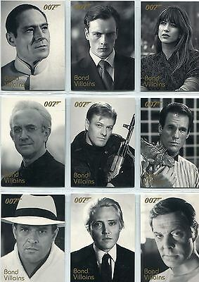 James Bond Quotable Complete Bond Villains Chase Card Set F1-F20