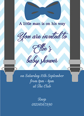 10 Beautiful Personalised Baby Shower Invitations Invites Boys or Girls 2018