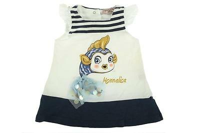 Pre-Owned Monnalisa Baby Girl Stretch Cotton Dress 3 Month Good Condition