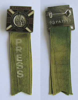 World Cup 1966 Official Participation Press Badge