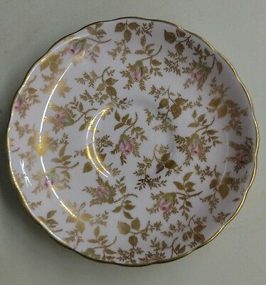 Vtg Tuscan English Bone China Du Barry Rose Chintz Saucer Only