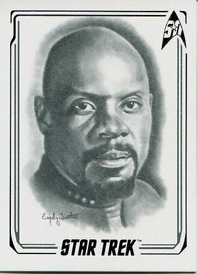Star Trek 50th Anniversary [2017] Artifex Chase Card 24 Captain Sisko