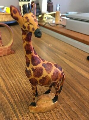 Wooden Hand Carved GIRAFFE 6""