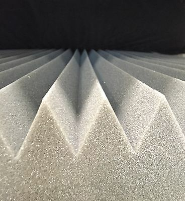 1m x 2m x 70mm Acoustic Foam Sound Absorption Proofing Home Theatre - Wedge
