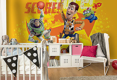 TOY STORY WALLPAPER mural for BOYS bedroom Giant photo wall Woody