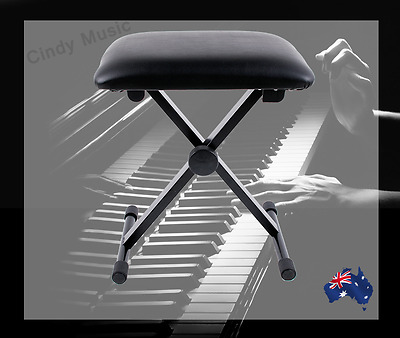 3 Level Adjustment Keyboard Piano Folding Stool NEW