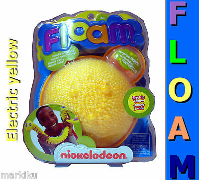 Electric yellow Floam Moulding compound toy foam beads kids Nickelodeon