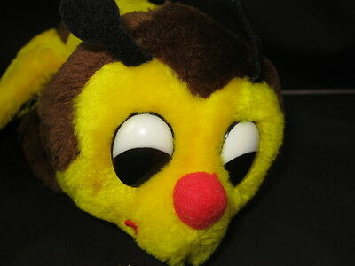 Vintage 1976 Dakin Bumblebee Rattle Made In Korea Plush Stuffed Animal Strings