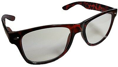 New Unisex Mens Ladies Tortoise Shell Wayfarer Sunglasses Shades UV400 Lenses