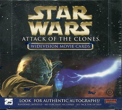 Star Wars Attack Of The Clones Widevision Factory Sealed Hobby Box 36 Packs