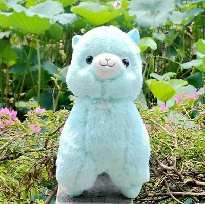 "NEW Amuse Arpakasso Alpacasso Alpaca Fresh Blue Plush Doll 14"" So Cute Gift"