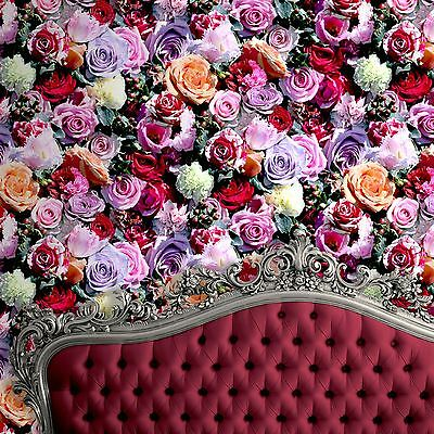 Roses Floral Wallpaper - Muriva J97010 - Red & Pink New Flowers