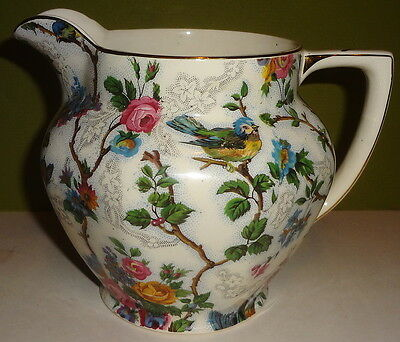 "1937 VRare LORNA DUNE CHINTZ by BARKER BROS. LTD - 5 1/4"" MILK PITCHER -TOP COND"