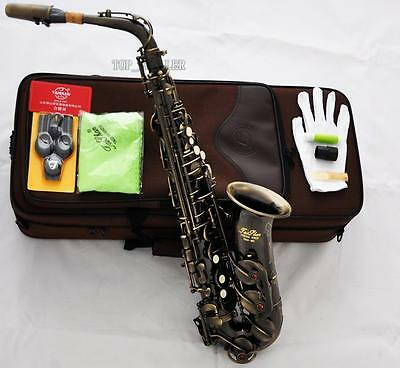 Professional Antique Bronze TaiShan Alto Saxophone Sax High F# Saxofon With Case