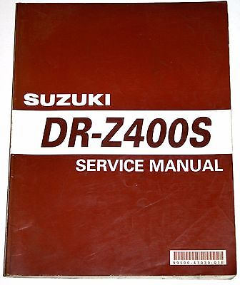 SUZUKI DR Z400S  WORKSHOP MANUAL - published by Suzuki - EXCELLENT, RARELY USED