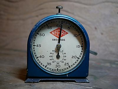 rare blue nebro darkroom seconds timer by english clock systems smiths