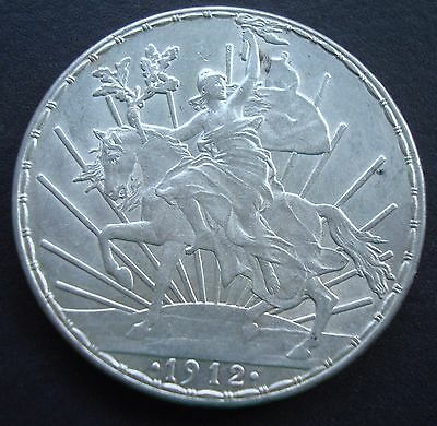 Mexico 1912 Silver Caballito One Peso Better Grade Beautiful Coin