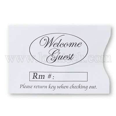 Welcome Guest Generic Hotel Keycard Envelope Sleeves - Case of 10,000