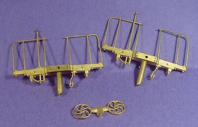 On3/On30 WISEMAN BACK SHOP BRASS PARTS BS-012 PASSENGER CAR END BEAMS W RAILINGS