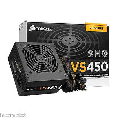 Corsair Vs450 8Pin(4+4) 450W 80+ 34 Amp Pci-E Cp-9020096-Uk Power Supply