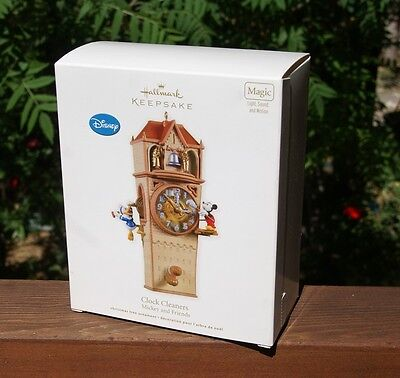 Hallmark ornament Clock Cleaners Mickey and Friends 2011 Magic free shipping NEW