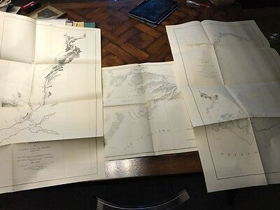 Antique 1898 ALASKA Military Expedition MAP Collection * topography geology