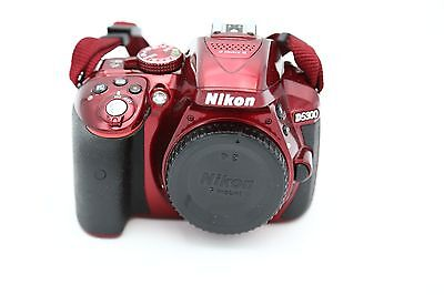 USED - Nikon D D5300 24.2MP Digital SLR Camera - Red (Body Only)