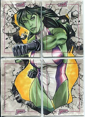 Marvel Dangerous Divas Series 1 Panel Sketch Card By Lawrence Reynolds