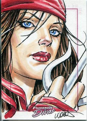 Marvel Dangerous Divas Series 1 Sketch Card By Kevin West
