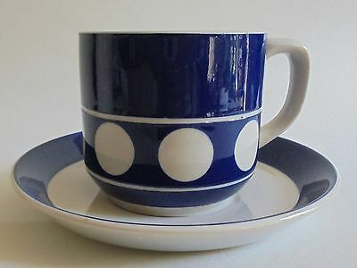 4 Retro T.g.green's  'jersey Blue' Cups And Saucers