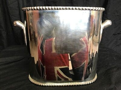 Fine Regency English Style Silver Plate Champagne Wine Cooler Ice Bucket