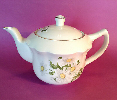 James Kent Old Foley Staffordshire Teapot - Daisies - Made In England