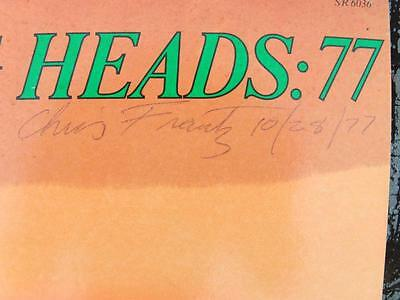 TALKING HEADS: 77 ViNTaGe aLBuM CoVeR auToGRaPHeD SMoKeY eFFeCTS SiGNeD 10/28/77
